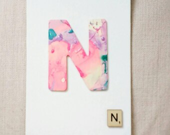 Marble Letters Premium Canvas Mini Scrabble tile Personalised