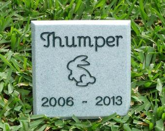 Mini Memorial for Your Bunny Rabbit * Custom Engraved Pet Headstone  * Grave Marker Cemetery Stone
