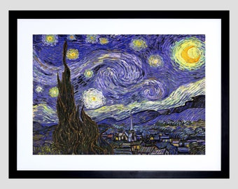 Painting Van Gogh Starry Night Old Master Art Print Poster FE2924OM