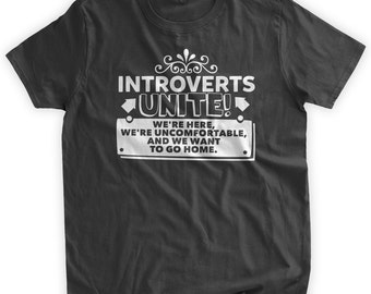 Introverts Unite T-shirt Funny Introverted Invert Personality T-Shirt Quiet Time down timeFamily Mens Ladies Womens Youth Kids Tshirt