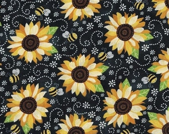 Sunflower Fabric Etsy