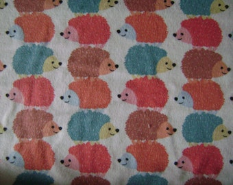 Snuggle Flannel Stacked Hedgehogs  sold by the yard