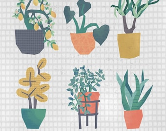 Potted Plants A6 Print