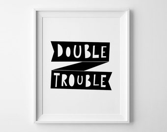 Scandinavian design, best selling item, nursery wall print, nursery decor, Double Trouble, nursery wall art, top selling item, kids decor