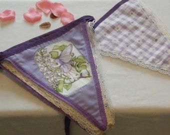 Fairy bunting, Lilac fairy bunting, girls bunting