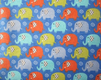 Elephants on brushed cotton fabric - 115cm wide with free 2nd class post sold per fat quarter