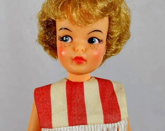 Vintage 1965 Slim Straight Leg Pepper Tammy Doll in Original Outfit