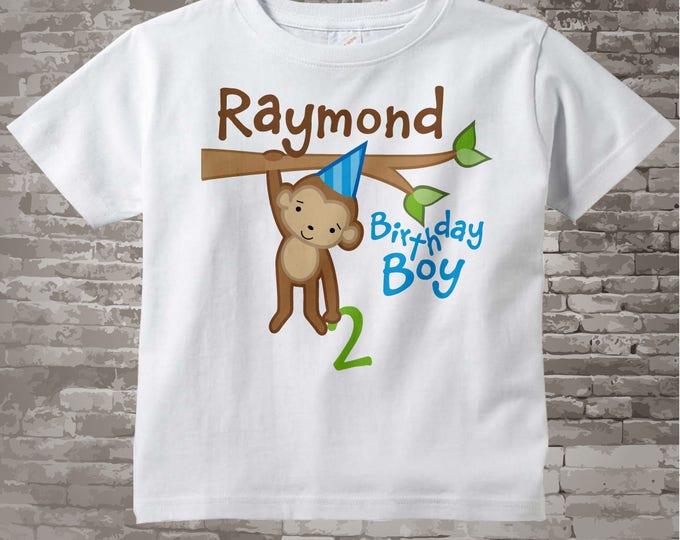 Boy's Birthday Shirt, Birthday Boy Onesie - Personalized Birthday Boy Monkey, Birthday Shirt, any age, Monkey Birthday Shirt 12312013j