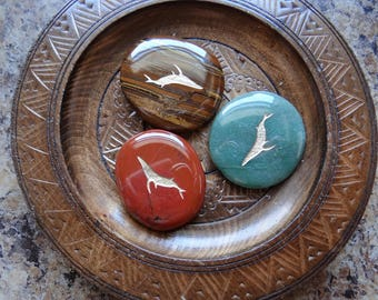WHALE Gemstone Animal Spirit Totem for Spiritual Jewelry or Crafts