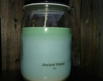 Ancient Forest - Soy Candle - Hand Poured Scented Natural Soy Wax - available sizes, 6 oz and 11 oz - Handmade in Baltimore MD