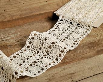 10cm Crochet Lace Ribbon Lace Trim Crochet Ribbon Crochet Trim White Lace Ribbon Crochet Lace Trim Embellishment Wedding Lace Crocheted Lace