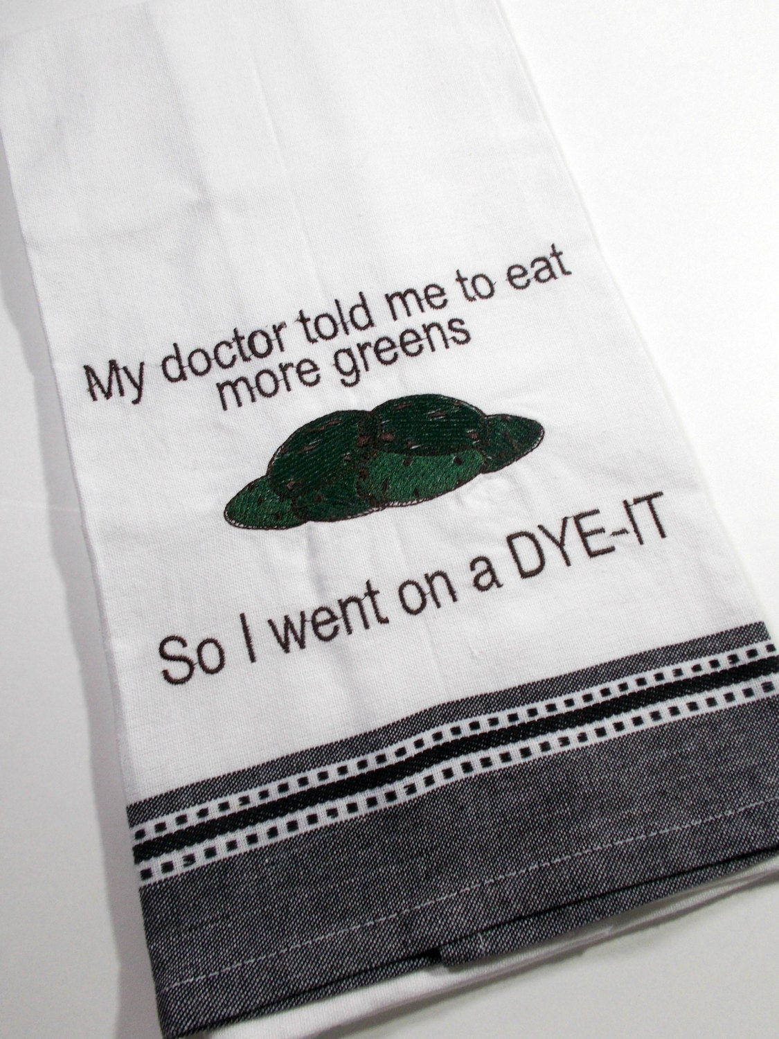 Diet Humor - Funny Diet Quote - Embroidered Towel - 10 dollar gift ...