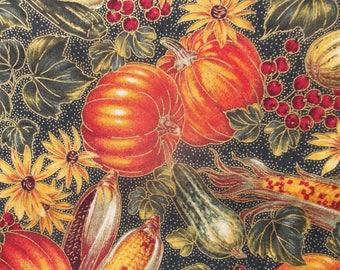 Fall Cornucopia Print Fabric