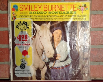 Smiley Burnette And His Rodeo Songaree Vinyl Record Album LP 1959 Country Children's Music Rare Factory SEALED Near Mint Condition Vintage