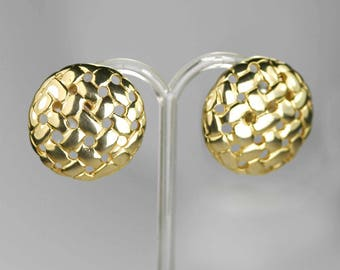 Vintage Large 1980s Statement Clip-on Earrings