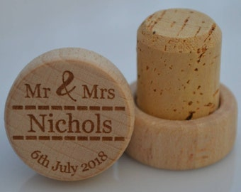 Personalized Wine Stoppers, Custom Wine Stopper, Engraved Wood Wine Stoppers,Customized Wine Cork, Wedding Party, Wedding Favor, Model 19