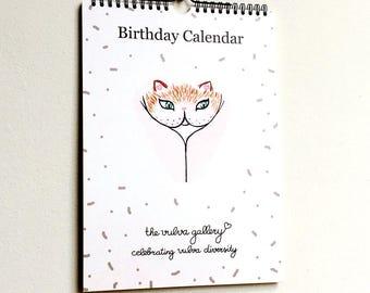 Birthday Calendar / Perpetual Calendar • The Vulva Gallery