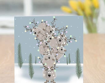 Re-Engineer - Cute and Quirky Reindeer Christmas Card