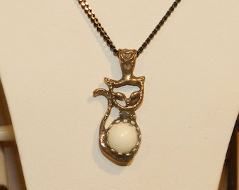necklace,animal necklace,cat necklace,cat necklace,animal necklacee,vintage necklace,turkish necklace,bronze necklace,jewelry,necklace