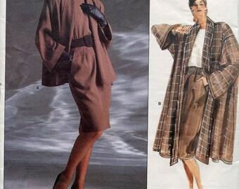 Vogue 1915 Anne Klein Swing Jacket Coat Skirt Top American Designer Original B31 B32 B34