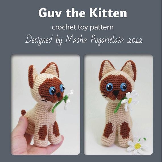 Guv The Kitten Pdf Crochet Toy Pattern Siamese Cat