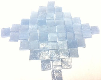 BLUE FAIRY WHISPER 3/8 Translucent Stained Glass Tile Supply C11