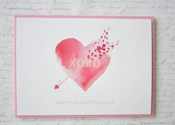 Valentine\'s Day Cards Set of 5 Valentine Cards Flat