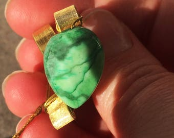 Gold and Green Stone Ring