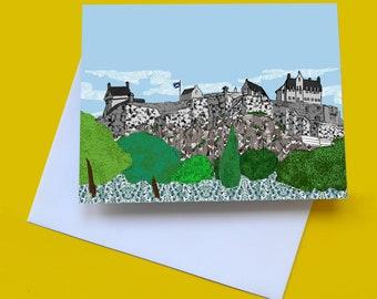 Edinburgh Castle - Edinburgh note card