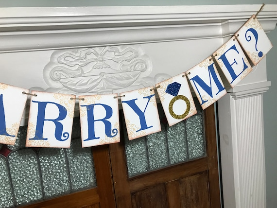 Rustic Marriage Proposal Banner Will You Marry Me Sign He