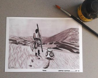 Trail-InkTober 2017-Signed Art Print Limited edition 10 units