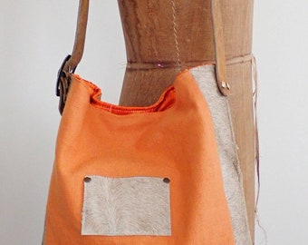 Everyday carryall. Boho chic. Shoulder bag. Crossbody tote. Upcycled canvas tote.  Leather strap tote. Book bag. Market tote.