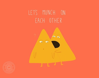 Tacos card, Let's munch on each other