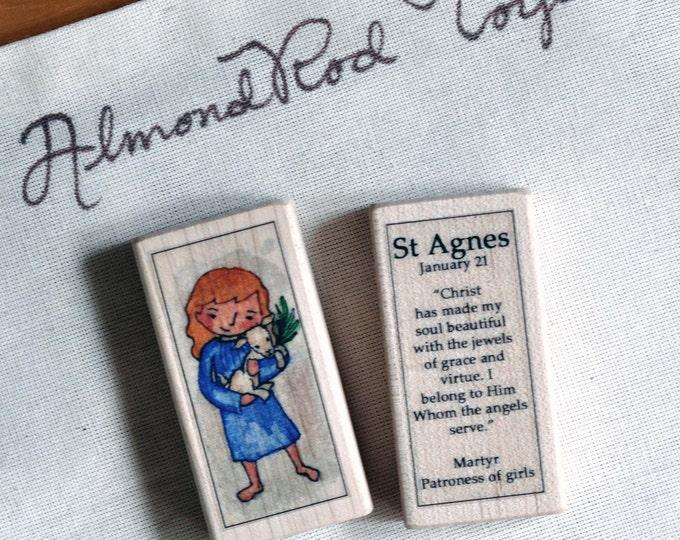 St Agnes Patron Saint Block