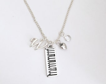 Personalized Piano Necklace