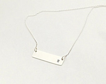 Personalized Bar Necklace - Nameplate Necklace - Sterling Bar Necklace - Dainty Bar Necklace - Monogram Necklace - Initial Bar Necklace