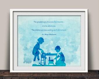 Montessori Quote - Montessori Print - Montessori Teaching - Montessori Gift - Montessori Teacher Gift - Montessori Art Print