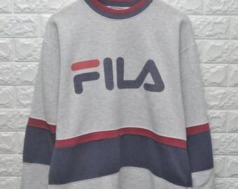 Vintage 90s Fila big logo USA sweatshirt
