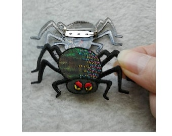 Spider - Black - Insect - Halloween - Pin Brooch - Jewlery