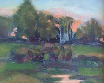 Original Framed Oil Painting Early Morning Light