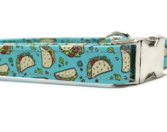 "Taco Dog Collar - 1"" or 1.5""width only - Fabric Dog Collar"