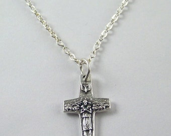 Petite Good Shepherd Cross Necklace Pope Francis