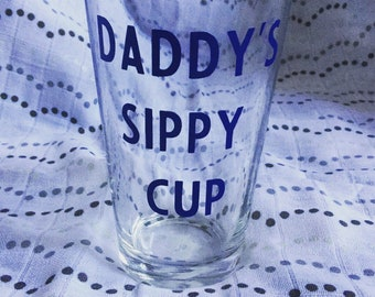 Daddy's Sippy Cup Beer Glass Mommy's Sippy Cup Wine Glass
