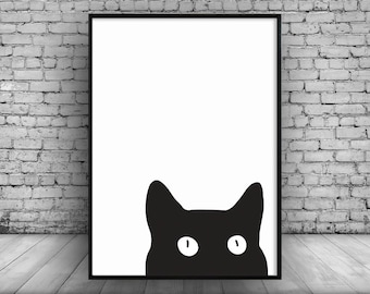 Cat Lover;Wall Print;Hanging;Home Decor;Poster;Gift Idea;Art;A4 Card
