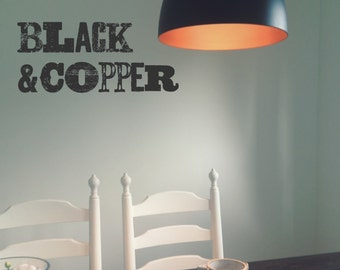 Beautiful Black and Copper pendant light