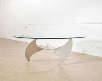 Mid Century Coffee Table, Modern Coffee Table, Knut Hesterberg for Ronald Schmitt Propeller Coffee Table, Vintage
