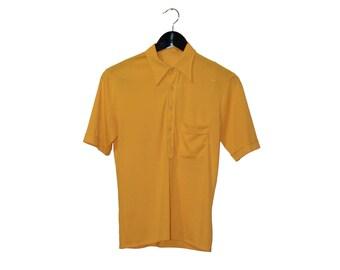 70s vintage women t-shirt polo shirt short sleeves - vintage clothing