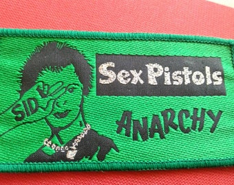 sex pistols 70s  vintage patch , anarchy Sid !! Really rare object, for real collectors!!!!!!