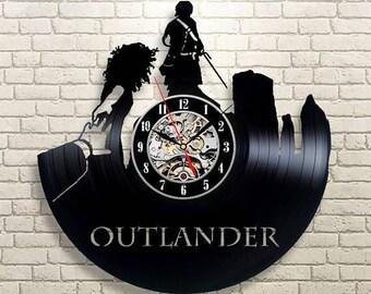Outlander TV Series Gift Vinyl Record Wall Clock