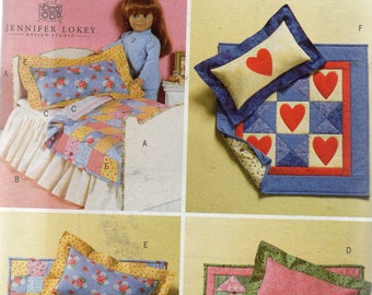 "18"" DOLL BED & QUILTS  Butterick  Pattern 4538"